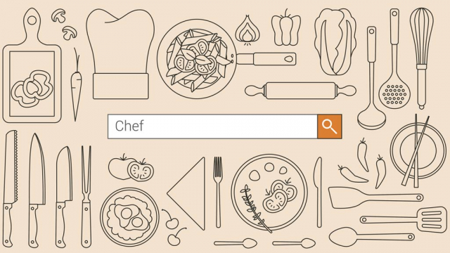 seo search box with the keyword chef